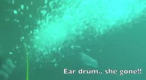 Diving Disaster - Eardrum Gone
