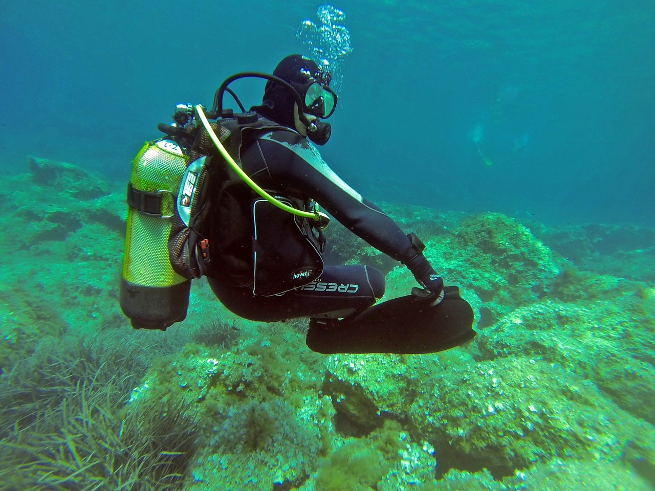 Rebreathers and buoyancy for scuba divers for Scuba dive equipment