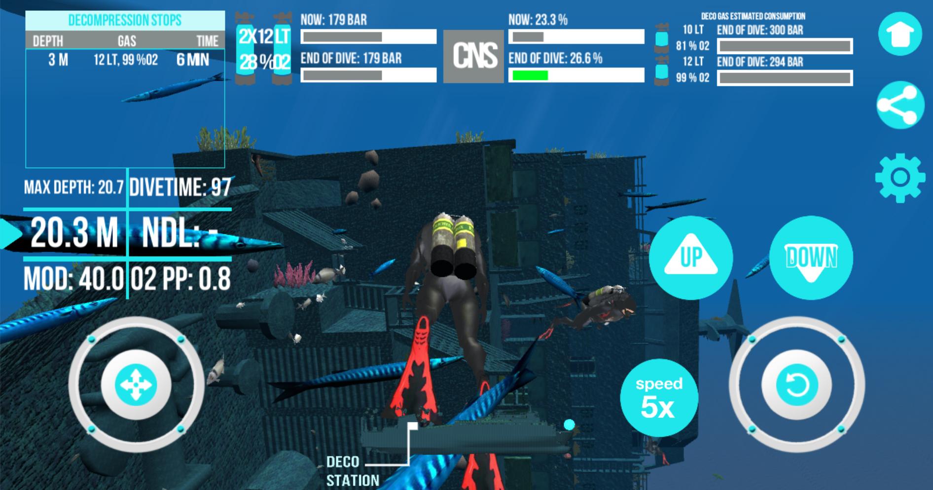 Scuba Dive Simulator Zenobia