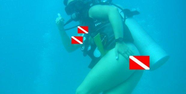 scuba diving au-natural