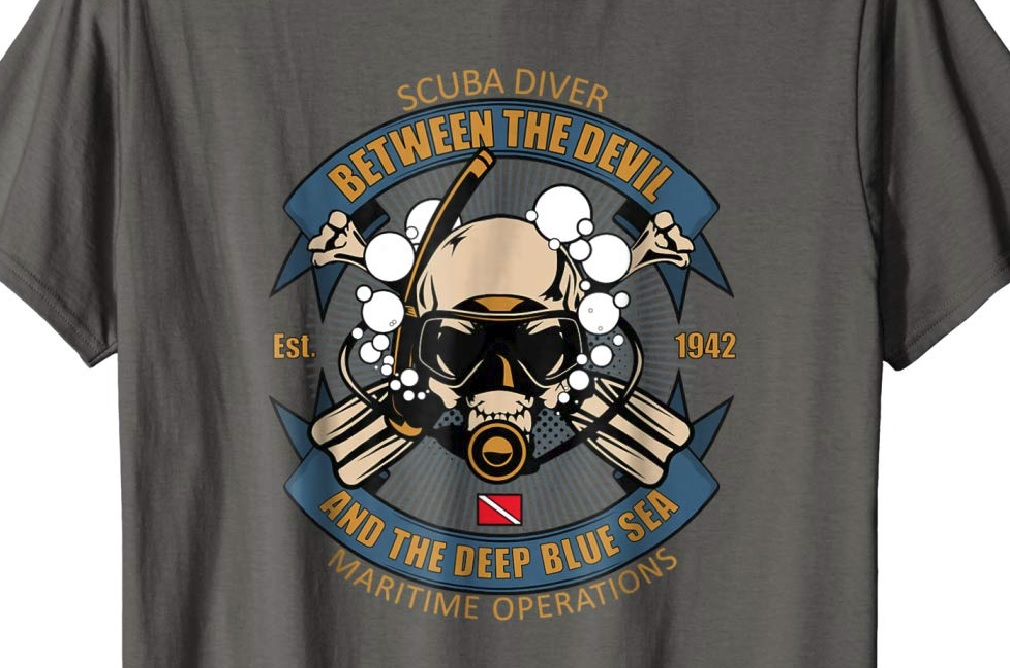 Awesome Scuba Diver Tee Shirt
