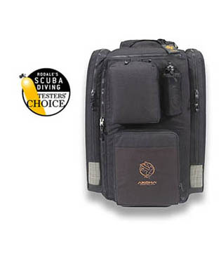 Rolling back pack for scuba divers