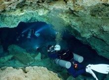 Cavern Diving ajma Ha Cenote In Mexico